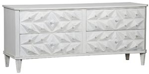 Giza 4 Drawer Dresser Whitewash