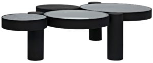 Noir Trypo Circles Coffee Table