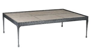 Cromwell Wood and Iron Base Coffee Table