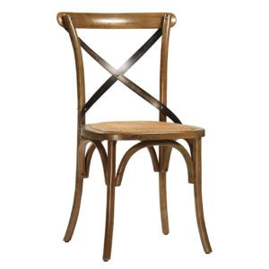 Portebello Bistro Chair with Rattan Seat (Set of 2)