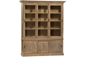 Dundee Large Oak Wall Unit with Sliding Doors