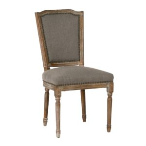 Arras Wood and Linen Dining Chair (Set of 2)