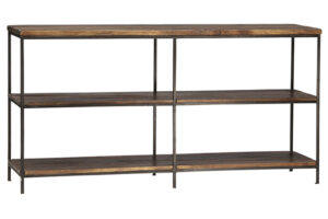 Madison Metal and Wood Open Shelf Console