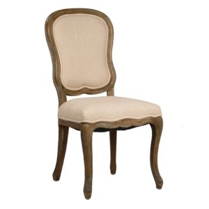 Provence Oak and Linen Dining Chair (Set of 2)
