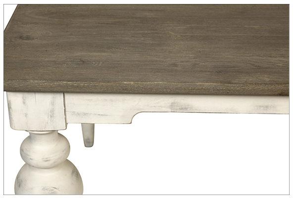 Middleton White Turned Leg Dining Table