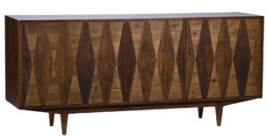 Stern Pine Sideboard with Diamond Details