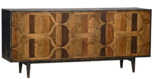 Honeycomb Bleached Pine Sideboard Media Console
