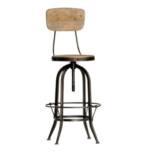 Adjustable Height Industrial Style Stool