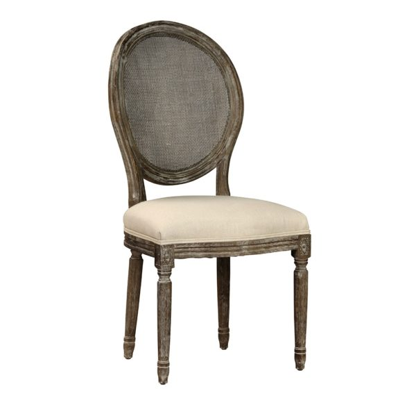 round back ivory dining chair
