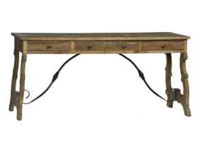 Spanish Style Desk with Iron Base