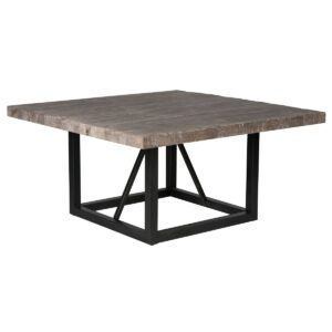 Messina Square Wood and Iron Dining Table