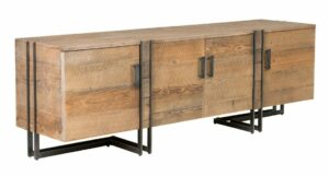 Marcelo Reclaimed Wood and Iron Low TV Stand