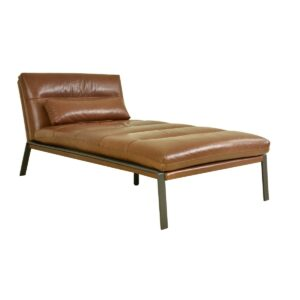Perry Leather Chaise Lounge