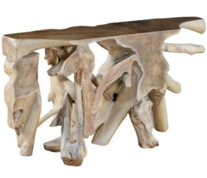 Cypress Teak Root Console Table