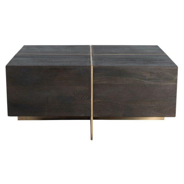 dark espresso square coffee table side view