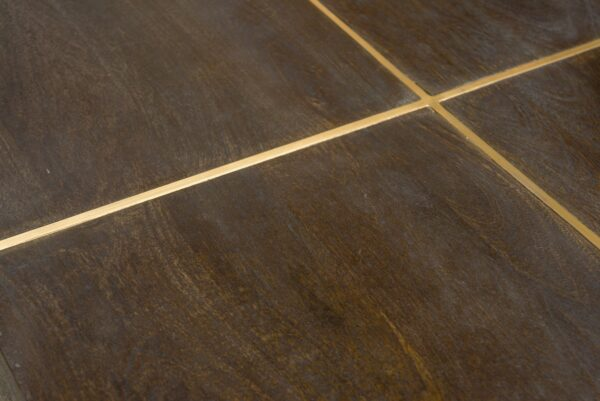 dark espresso square coffee table close up