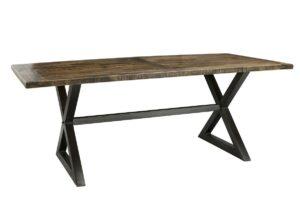 Kara Wood and Iron Dining Table