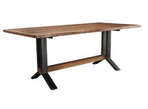 Haden Wood and Iron Dining Table