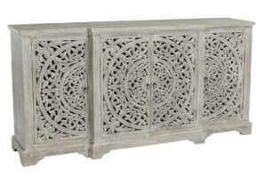 Harmony Floral Pattern Carved Sideboard