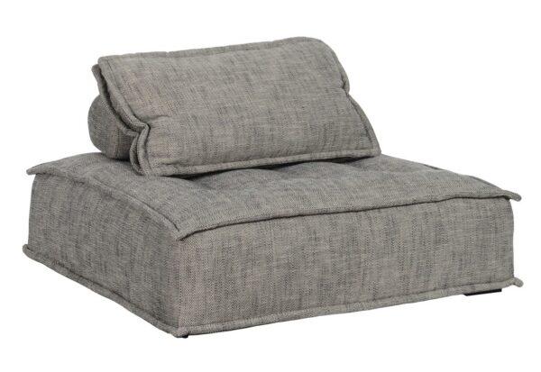 Gray modular chaise chair