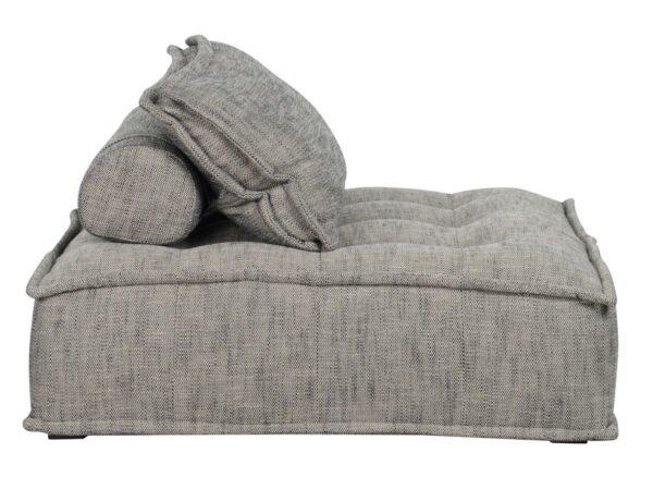 Gray modular chaise chair side view