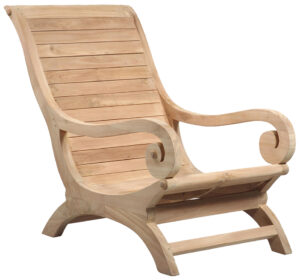 Natural Teak Lounge Chair
