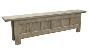 Antique Hand Carved Low Wood Console