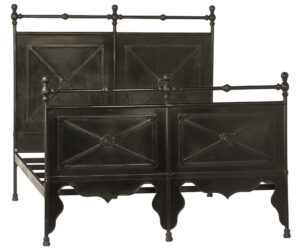 Channing Iron Black Distressed Bed
