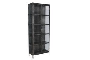 Salinas Gunmetal Iron & Glass Cabinet
