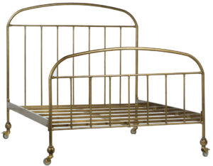 Molina Brass Iron Bed Frame