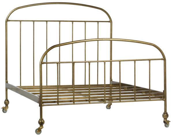 brass iron bed