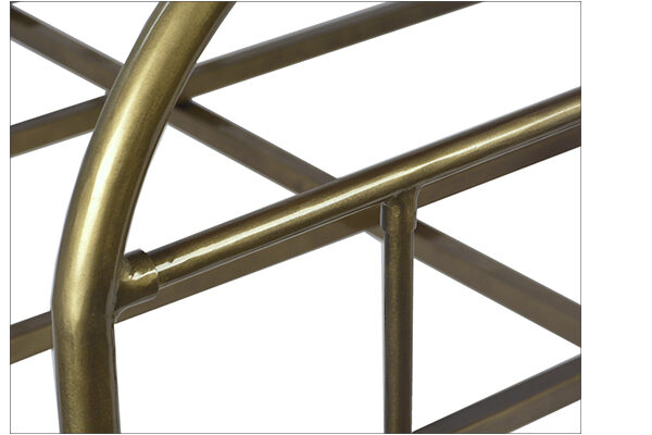 brass iron bed close up