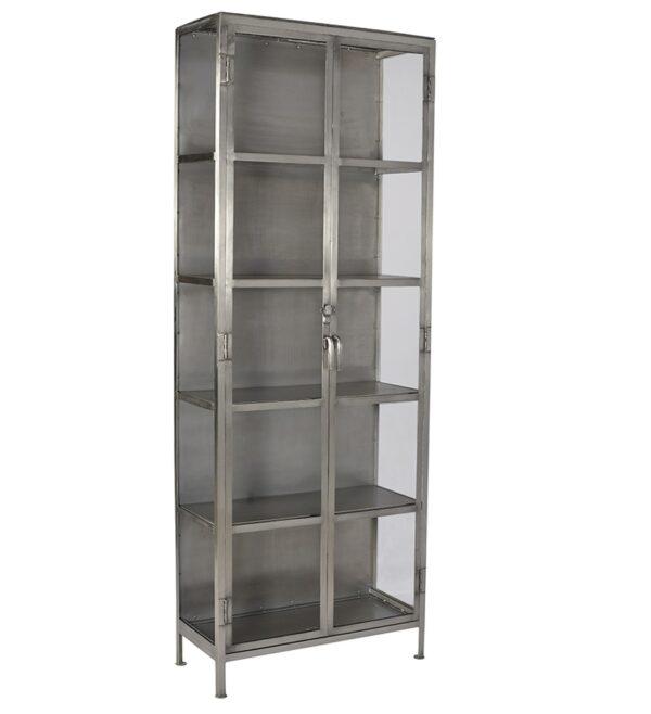 tall iron glass cabinet