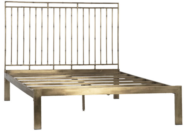 brass metal bed