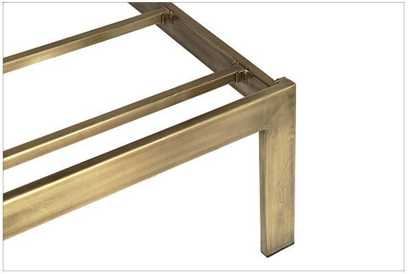 brass metal bed close up