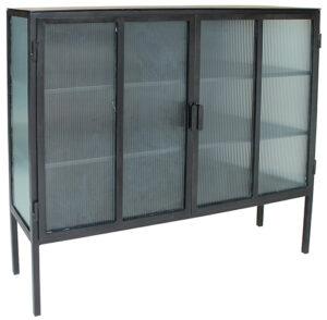 Verani Tall Glass Iron Sideboard