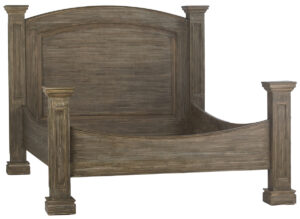 Bacino Grey Finish Wood Bed