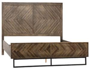 Holbrook Herringbone Wood Bed