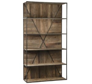 Braska Reclaimed Wood and Iron Bookcase