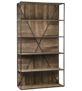 Braska Reclaimed Wood and Iron Bookcase