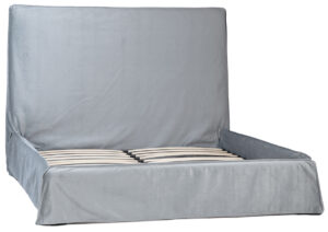 Adaza Light Grey Slipcover Bed