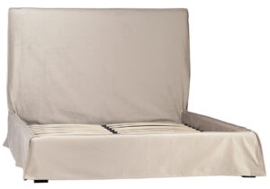 Lozada Creme Slipcover Bed