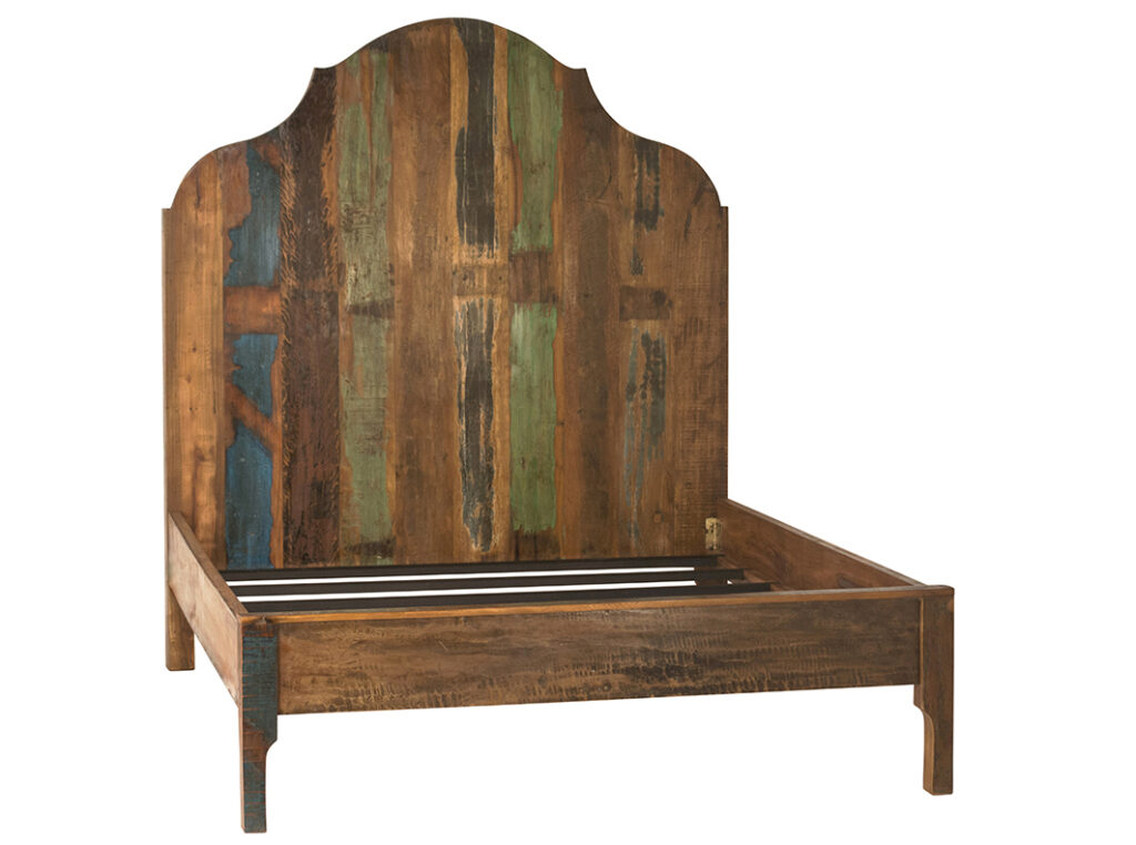 Toledo Distressed Wood Bed