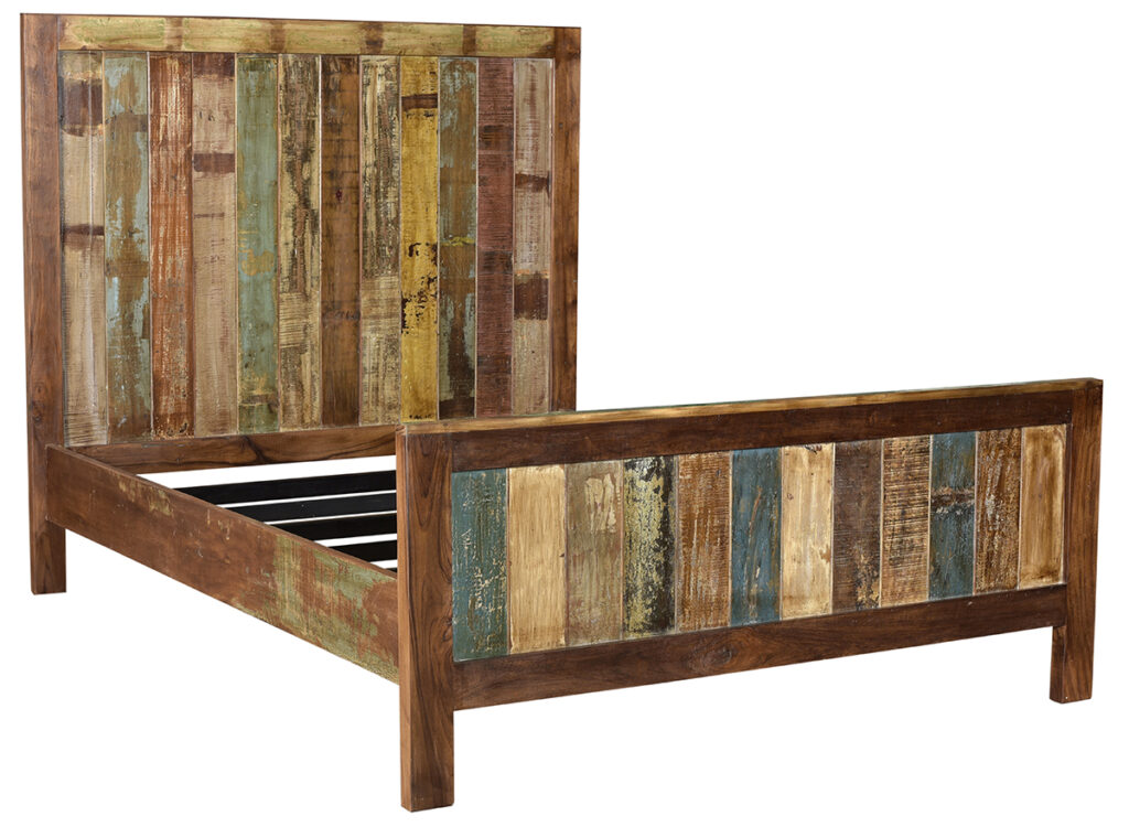 Warner Distressed Reclaimed Wood Bed