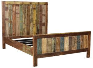 Warner Distressed Reclaimed Wood Bed