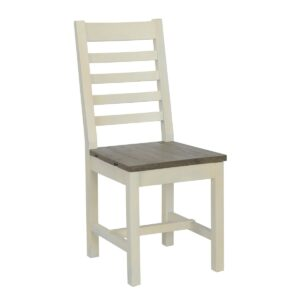 Caleb Two Tone Wood Dining Chair Set of 2