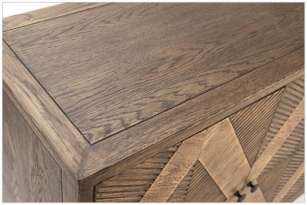 Touta Oak Wood Sideboard Cabinet top view