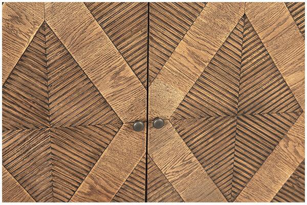 Touta Oak Wood Sideboard Cabinet closeup