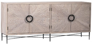 Vermont Grey Finish Wood Sideboard Cabinet