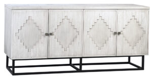 Clancy White Wash and Iron Wood Sideboard